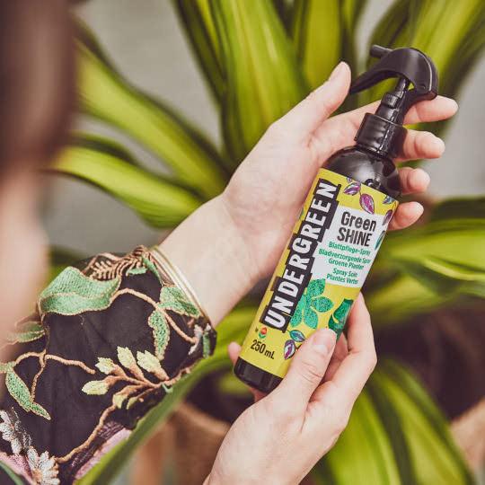 Blattpflegespray für Grünpflanzen und Blühpflanzen