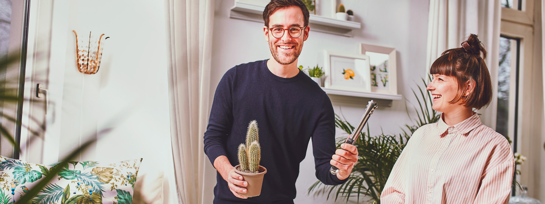 Kaktus umtopfen